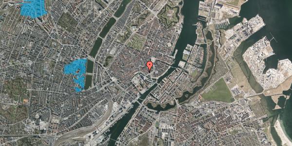 Oversvømmelsesrisiko fra vandløb på Admiralgade 27, 3. , 1066 København K