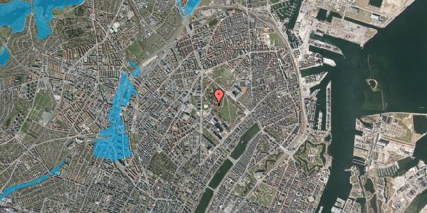 Oversvømmelsesrisiko fra vandløb på Edel Sauntes Allé 20, 2100 København Ø