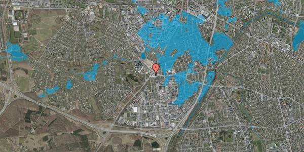 Oversvømmelsesrisiko fra vandløb på Slotsherrensvej 409A, 2600 Glostrup