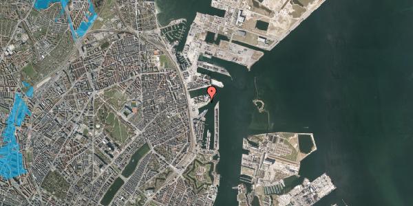 Oversvømmelsesrisiko fra vandløb på Marmorvej 20, 2100 København Ø