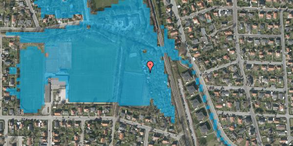 Oversvømmelsesrisiko fra vandløb på Rødhalsgangen 22, 2400 København NV
