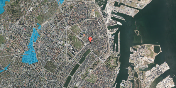 Oversvømmelsesrisiko fra vandløb på Østerbrogade 29B, 2100 København Ø