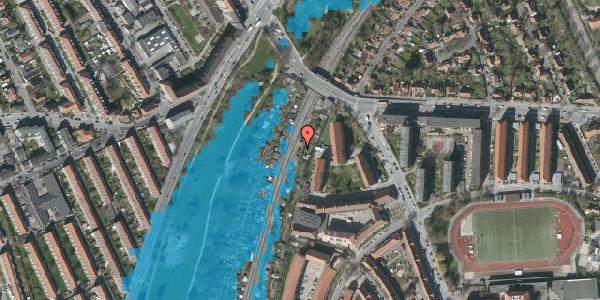 Oversvømmelsesrisiko fra vandløb på Haven 9G, 2000 Frederiksberg