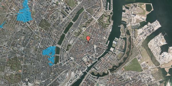 Oversvømmelsesrisiko fra vandløb på Sjæleboderne 2, 1. th, 1122 København K