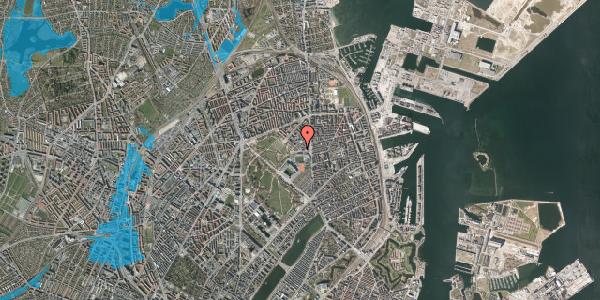 Oversvømmelsesrisiko fra vandløb på Serridslevvej 2, kl. , 2100 København Ø