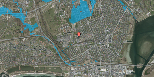 Oversvømmelsesrisiko fra vandløb på Mellemvangsvej 19, 2650 Hvidovre