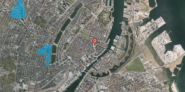 Oversvømmelsesrisiko fra vandløb på Østergade 2A, 1. , 1100 København K