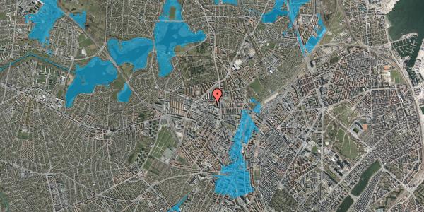 Oversvømmelsesrisiko fra vandløb på Dortheavej 2E, 1. tv, 2400 København NV