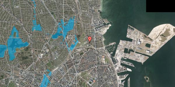 Oversvømmelsesrisiko fra vandløb på Svanemøllens Kaserne 50, 2100 København Ø
