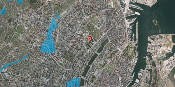 Oversvømmelsesrisiko fra vandløb på Juliane Maries Vej 13, 2100 København Ø
