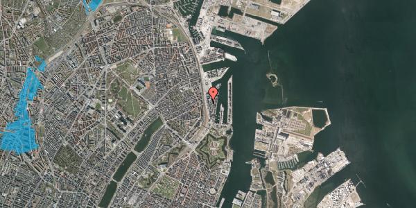 Oversvømmelsesrisiko fra vandløb på Amerika Plads 15, 3. , 2100 København Ø