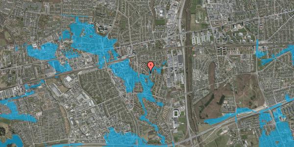 Oversvømmelsesrisiko fra vandløb på Brøndbyvestervej 24A, 2600 Glostrup