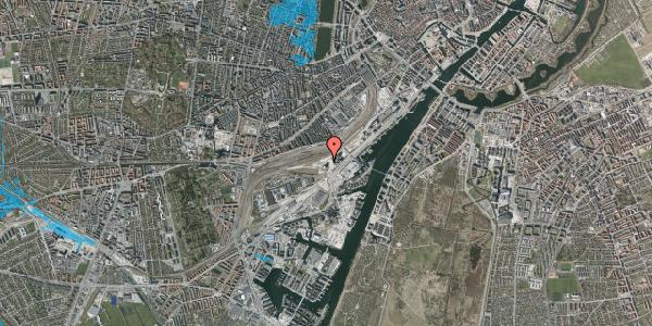 Oversvømmelsesrisiko fra vandløb på Carsten Niebuhrs Gade 45, 1577 København V