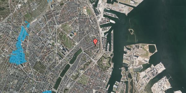 Oversvømmelsesrisiko fra vandløb på Classensgade 50B, 2100 København Ø