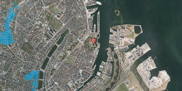 Oversvømmelsesrisiko fra vandløb på Kastellet 30, 2100 København Ø