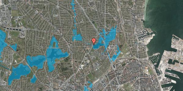 Oversvømmelsesrisiko fra vandløb på Emdrupvej 54D, 2400 København NV