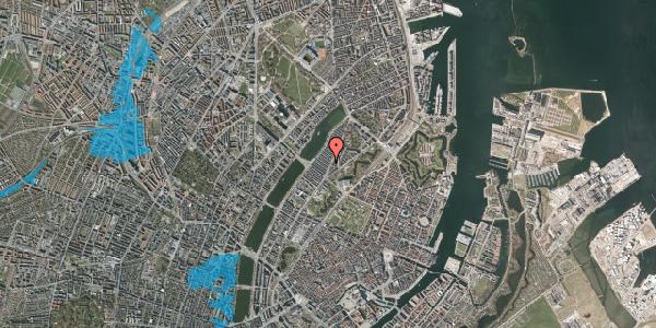 Oversvømmelsesrisiko fra vandløb på Abildgaardsgade 3, 2100 København Ø