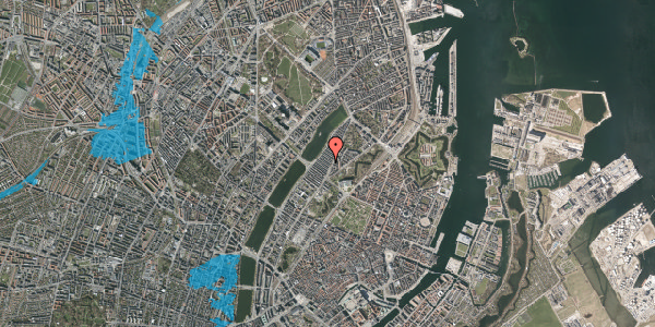 Oversvømmelsesrisiko fra vandløb på Abildgaardsgade 11, 2100 København Ø