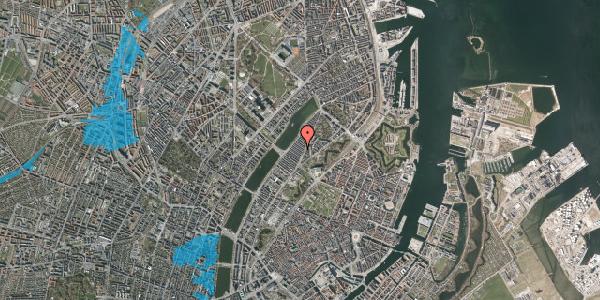 Oversvømmelsesrisiko fra vandløb på Abildgaardsgade 14, 2100 København Ø