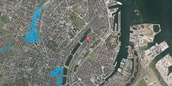 Oversvømmelsesrisiko fra vandløb på Abildgaardsgade 19, 2100 København Ø