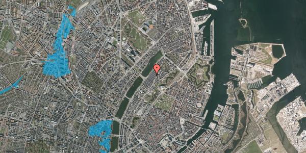 Oversvømmelsesrisiko fra vandløb på Abildgaardsgade 20, 2100 København Ø