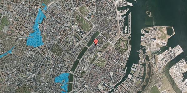 Oversvømmelsesrisiko fra vandløb på Abildgaardsgade 22, 2100 København Ø