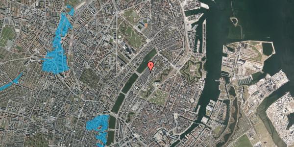 Oversvømmelsesrisiko fra vandløb på Abildgaardsgade 23, 2100 København Ø