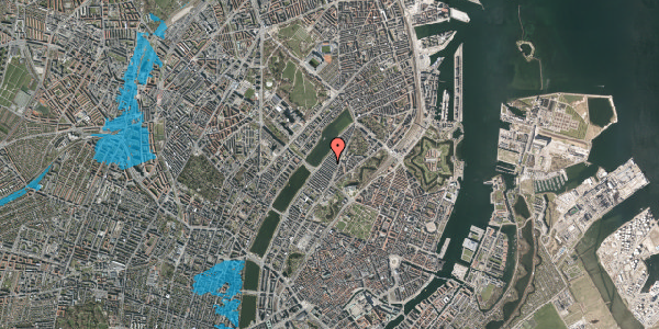 Oversvømmelsesrisiko fra vandløb på Abildgaardsgade 30, 2100 København Ø