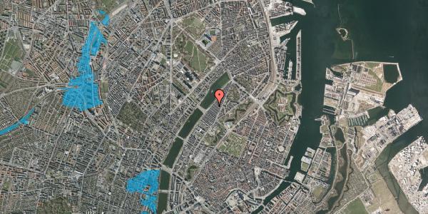 Oversvømmelsesrisiko fra vandløb på Abildgaardsgade 38, 2100 København Ø