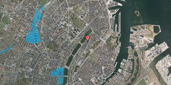 Oversvømmelsesrisiko fra vandløb på Abildgaardsgade 42, 1. , 2100 København Ø