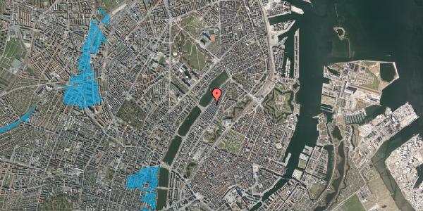 Oversvømmelsesrisiko fra vandløb på Abildgaardsgade 43, 2100 København Ø