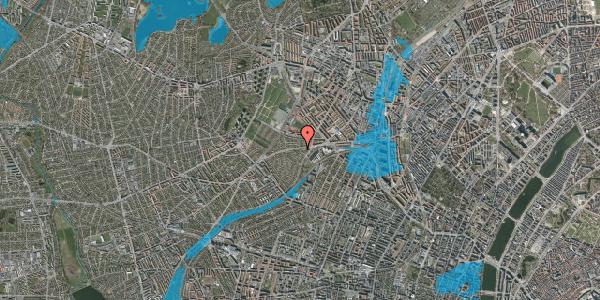 Oversvømmelsesrisiko fra vandløb på Abrikosvej 1, 2400 København NV
