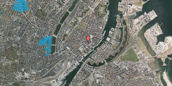 Oversvømmelsesrisiko fra vandløb på Admiralgade 17, 2. th, 1066 København K