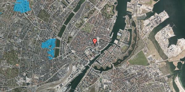 Oversvømmelsesrisiko fra vandløb på Admiralgade 19, 1. , 1066 København K