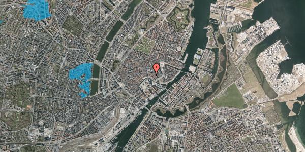 Oversvømmelsesrisiko fra vandløb på Admiralgade 20, 1. , 1066 København K