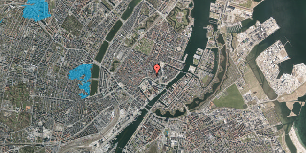 Oversvømmelsesrisiko fra vandløb på Admiralgade 21, st. , 1066 København K