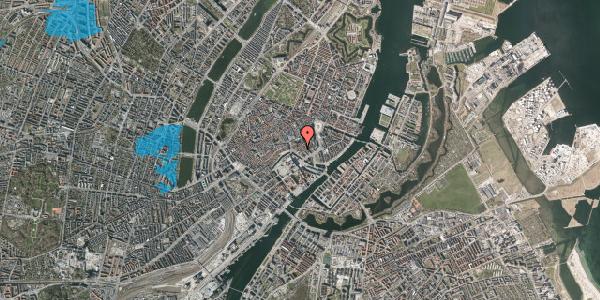 Oversvømmelsesrisiko fra vandløb på Admiralgade 22, 2. th, 1066 København K