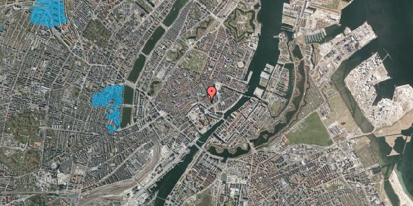 Oversvømmelsesrisiko fra vandløb på Admiralgade 23, 3. , 1066 København K