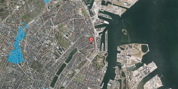 Oversvømmelsesrisiko fra vandløb på Aggersborggade 4, 4. th, 2100 København Ø