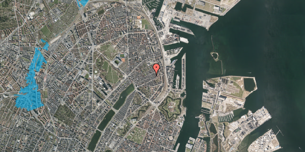 Oversvømmelsesrisiko fra vandløb på Aggersborggade 5, st. th, 2100 København Ø