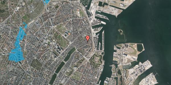Oversvømmelsesrisiko fra vandløb på Aggersborggade 7, 3. th, 2100 København Ø