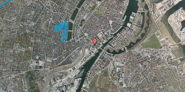 Oversvømmelsesrisiko fra vandløb på Anker Heegaards Gade 2, 5. 504, 1572 København V