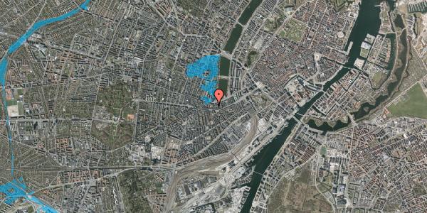 Oversvømmelsesrisiko fra vandløb på Bagerstræde 7, 3. tv, 1617 København V