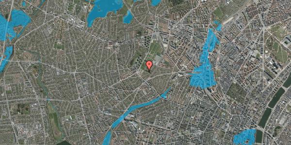 Oversvømmelsesrisiko fra vandløb på Bakkevej 3, 2400 København NV