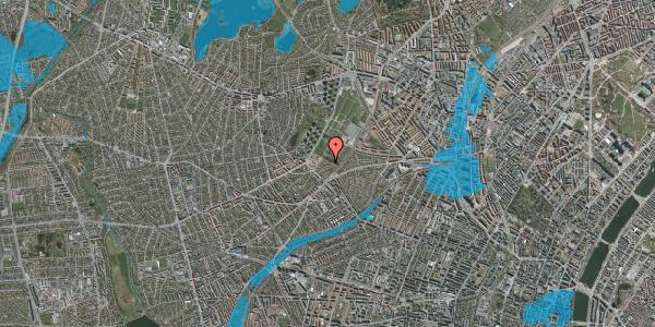 Oversvømmelsesrisiko fra vandløb på Bakkevej 4, 2400 København NV