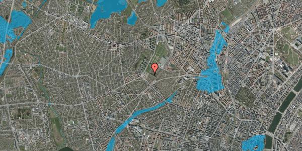Oversvømmelsesrisiko fra vandløb på Bakkevej 5, 2400 København NV