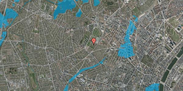 Oversvømmelsesrisiko fra vandløb på Bakkevej 7, 2400 København NV