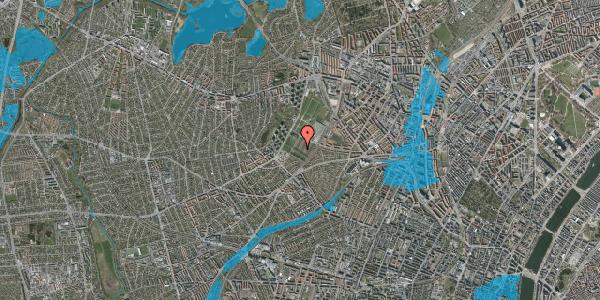 Oversvømmelsesrisiko fra vandløb på Bakkevej 12, 2400 København NV