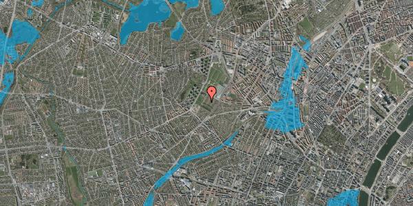 Oversvømmelsesrisiko fra vandløb på Bakkevej 13, 2400 København NV