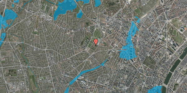 Oversvømmelsesrisiko fra vandløb på Bakkevej 16, 2400 København NV